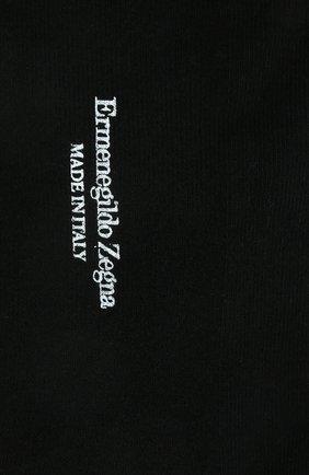 Мужские хлопковые носки ERMENEGILDO ZEGNA черного цвета, арт. N5V024060 | Фото 2