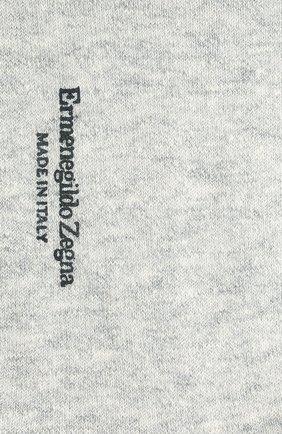 Мужские носки изо льна и хлопка ERMENEGILDO ZEGNA серого цвета, арт. N5V024030 | Фото 2