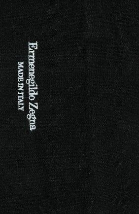 Мужские носки изо льна и хлопка ERMENEGILDO ZEGNA черного цвета, арт. N5V024030 | Фото 2
