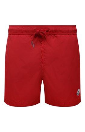Мужские плавки-шорты MONCLER красного цвета, арт. G1-091-2C708-00-53326 | Фото 1