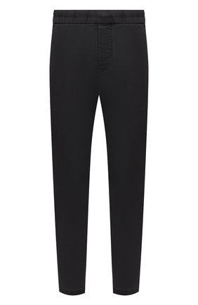 Мужские хлопковые брюки JAMES PERSE темно-серого цвета, арт. MSUP1313 | Фото 1 (Материал внешний: Хлопок; Длина (брюки, джинсы): Стандартные; Стили: Кэжуэл; Случай: Повседневный)