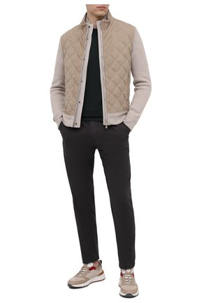 Мужские хлопковые брюки JAMES PERSE темно-серого цвета, арт. MSUP1313 | Фото 2 (Материал внешний: Хлопок; Длина (брюки, джинсы): Стандартные; Стили: Кэжуэл; Случай: Повседневный)