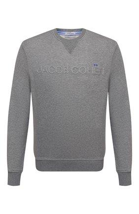 Мужской хлопковый свитшот JACOB COHEN серого цвета, арт. J4107 02411-L/55 | Фото 1