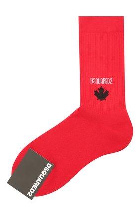 Мужские хлопковые носки DSQUARED2 красного цвета, арт. DFV172090 | Фото 1