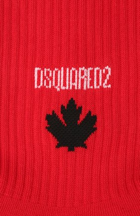Мужские хлопковые носки DSQUARED2 красного цвета, арт. DFV172090 | Фото 2