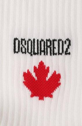 Мужские хлопковые носки DSQUARED2 белого цвета, арт. DFV172090 | Фото 2