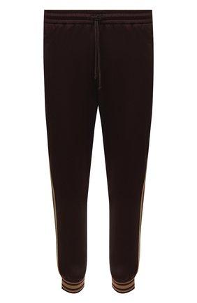 Мужские джоггеры GUCCI коричневого цвета, арт. 650041/XJC50 | Фото 1