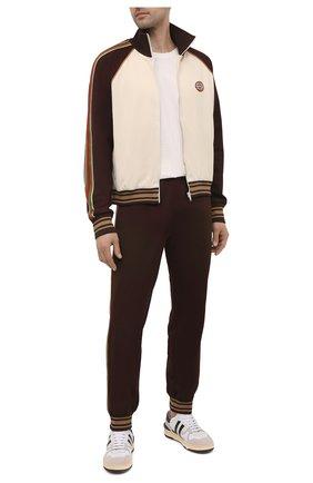 Мужские джоггеры GUCCI коричневого цвета, арт. 650041/XJC50 | Фото 2