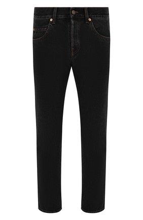 Мужские джинсы GUCCI черного цвета, арт. 408637/XDBK8 | Фото 1 (Материал внешний: Хлопок; Длина (брюки, джинсы): Стандартные; Стили: Кэжуэл; Силуэт М (брюки): Прямые)