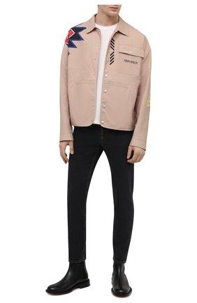 Мужские джинсы GUCCI черного цвета, арт. 408637/XDBK8 | Фото 2 (Материал внешний: Хлопок; Длина (брюки, джинсы): Стандартные; Стили: Кэжуэл; Силуэт М (брюки): Прямые)