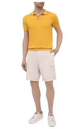 Мужское хлопковое поло GRAN SASSO желтого цвета, арт. 57132/20688 | Фото 2