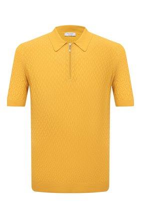 Мужское хлопковое поло GRAN SASSO желтого цвета, арт. 57165/20676 | Фото 1