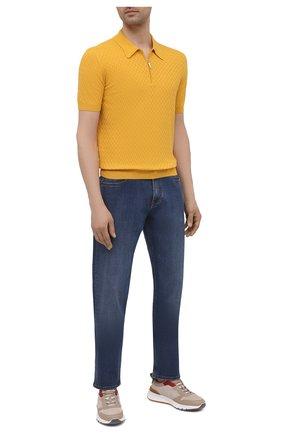 Мужское хлопковое поло GRAN SASSO желтого цвета, арт. 57165/20676 | Фото 2