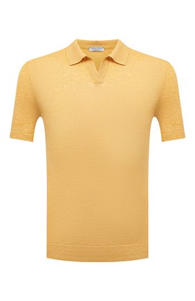 Мужское льняное поло GRAN SASSO желтого цвета, арт. 57174/24801 | Фото 1