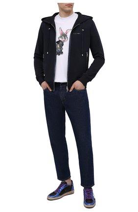 Мужские кожаные кеды ball star GOLDEN GOOSE DELUXE BRAND разноцветного цвета, арт. GMF00117.F000385 | Фото 2 (Материал внутренний: Натуральная кожа; Подошва: Массивная)