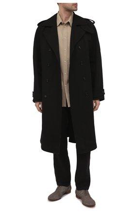 Мужские кожаные оксфорды PREMIATA коричневого цвета, арт. PREMI213/SQUAMA | Фото 2