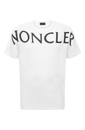 Мужская хлопковая футболка MONCLER белого цвета, арт. G1-091-8C7C5-10-829H8 | Фото 1