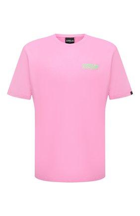 Мужская хлопковая футболка COMME DES FUCKDOWN розового цвета, арт. CDFU1108 | Фото 1
