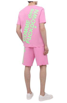 Мужская хлопковая футболка COMME DES FUCKDOWN розового цвета, арт. CDFU1108 | Фото 2