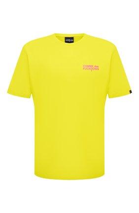 Мужская хлопковая футболка COMME DES FUCKDOWN светло-зеленого цвета, арт. CDFU1108 | Фото 1