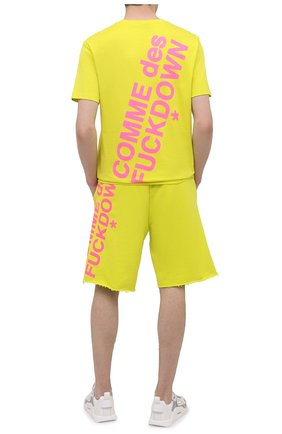 Мужская хлопковая футболка COMME DES FUCKDOWN светло-зеленого цвета, арт. CDFU1108 | Фото 2