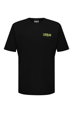 Мужская хлопковая футболка COMME DES FUCKDOWN черного цвета, арт. CDFU1108 | Фото 1
