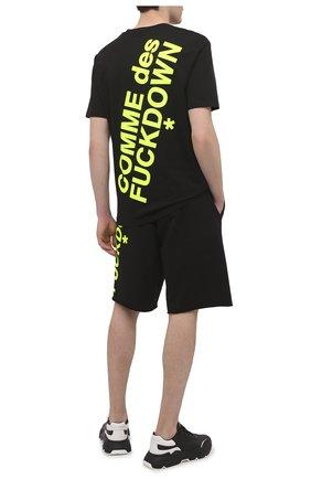 Мужская хлопковая футболка COMME DES FUCKDOWN черного цвета, арт. CDFU1108 | Фото 2