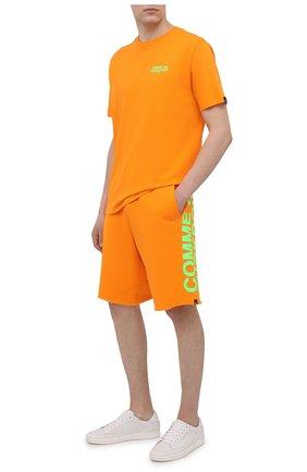 Мужские хлопковые шорты COMME DES FUCKDOWN оранжевого цвета, арт. CDFU1110 | Фото 2