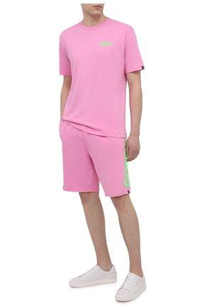 Мужские хлопковые шорты COMME DES FUCKDOWN розового цвета, арт. CDFU1110 | Фото 2