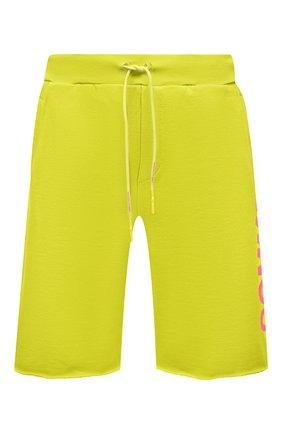 Мужские хлопковые шорты COMME DES FUCKDOWN светло-зеленого цвета, арт. CDFU1110 | Фото 1