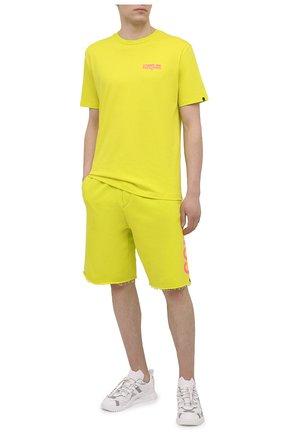 Мужские хлопковые шорты COMME DES FUCKDOWN светло-зеленого цвета, арт. CDFU1110 | Фото 2