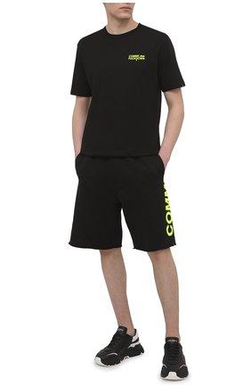 Мужские хлопковые шорты COMME DES FUCKDOWN черного цвета, арт. CDFU1110 | Фото 2