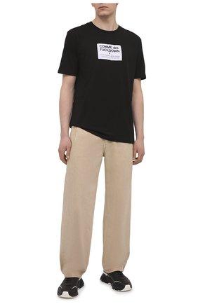 Мужская хлопковая футболка COMME DES FUCKDOWN черного цвета, арт. CDFU1113 | Фото 2