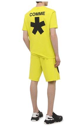 Мужская хлопковая футболка COMME DES FUCKDOWN светло-зеленого цвета, арт. CDFU1118 | Фото 2