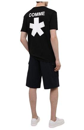 Мужская хлопковая футболка COMME DES FUCKDOWN черного цвета, арт. CDFU1118 | Фото 2