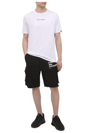 Мужские хлопковые шорты COMME DES FUCKDOWN черного цвета, арт. CDFU1119 | Фото 2