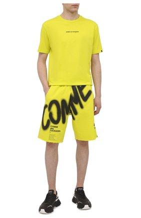 Мужские хлопковые шорты COMME DES FUCKDOWN светло-зеленого цвета, арт. CDFU1122 | Фото 2