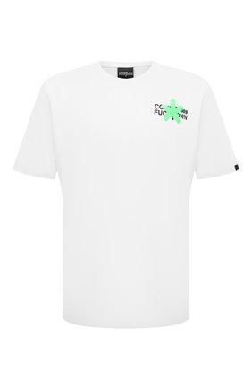 Мужская хлопковая футболка COMME DES FUCKDOWN белого цвета, арт. CDFU1128 | Фото 1