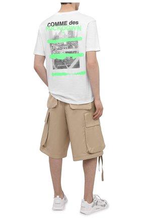 Мужская хлопковая футболка COMME DES FUCKDOWN белого цвета, арт. CDFU1128 | Фото 2