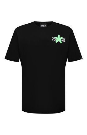Мужская хлопковая футболка COMME DES FUCKDOWN черного цвета, арт. CDFU1128 | Фото 1
