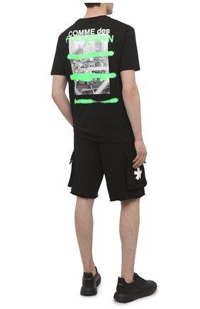 Мужская хлопковая футболка COMME DES FUCKDOWN черного цвета, арт. CDFU1128 | Фото 2