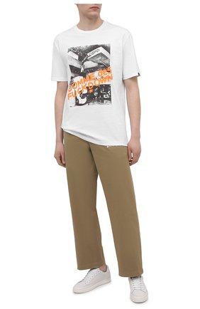 Мужская хлопковая футболка COMME DES FUCKDOWN белого цвета, арт. CDFU1129 | Фото 2