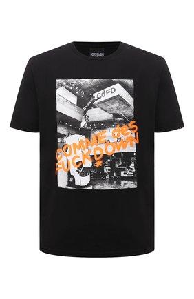 Мужская хлопковая футболка COMME DES FUCKDOWN черного цвета, арт. CDFU1129 | Фото 1