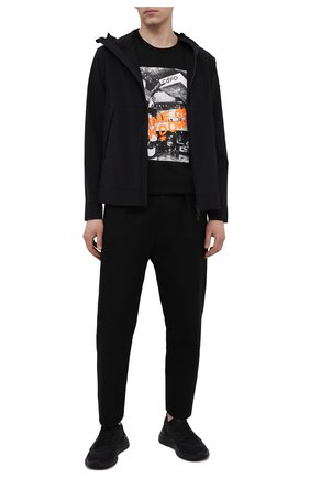 Мужская хлопковая футболка COMME DES FUCKDOWN черного цвета, арт. CDFU1129 | Фото 2