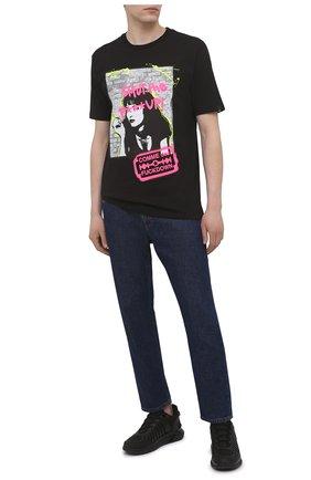 Мужская хлопковая футболка COMME DES FUCKDOWN черного цвета, арт. CDFU1140 | Фото 2