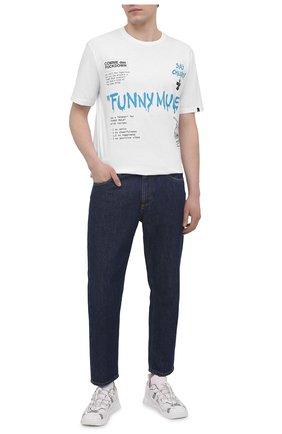 Мужская хлопковая футболка COMME DES FUCKDOWN белого цвета, арт. CDFU1144A | Фото 2