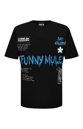 Мужская хлопковая футболка COMME DES FUCKDOWN черного цвета, арт. CDFU1144A | Фото 1