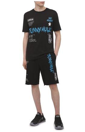 Мужская хлопковая футболка COMME DES FUCKDOWN черного цвета, арт. CDFU1144A | Фото 2