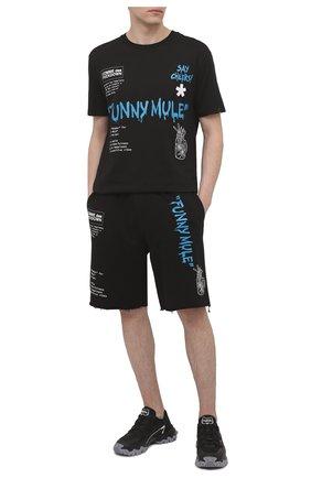 Мужские хлопковые шорты COMME DES FUCKDOWN черного цвета, арт. CDFU1145A | Фото 2