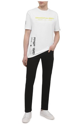 Мужская хлопковая футболка COMME DES FUCKDOWN белого цвета, арт. CDFU1166 | Фото 2